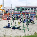 New Playground at Konbit Bibliyotek in Port-au-Prince, Haiti