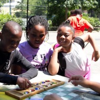 "Summer fun at NYC Parks ""Kids in Motion"" program at Mullaly Park, Bronx"